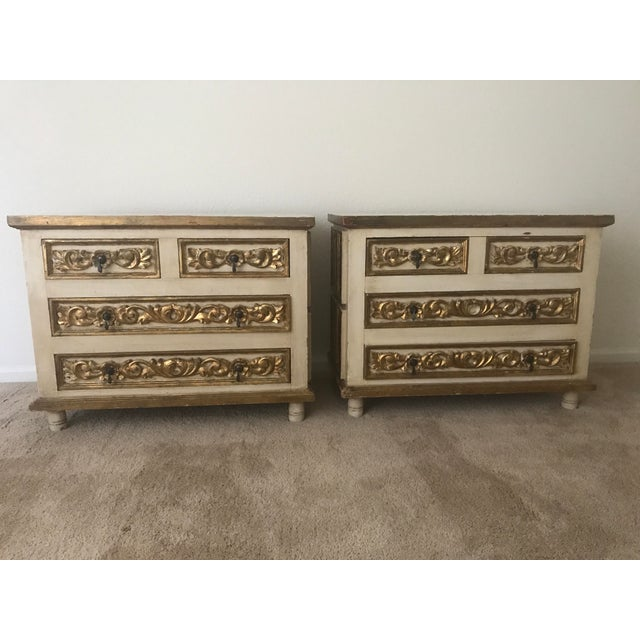 Mexico Polychrome Mirrored Cabinets - A Pair - Image 2 of 6