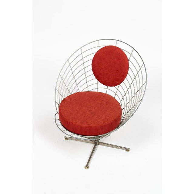 Mid-Century Modern Vire Cone Chair by Verner Panton For Sale - Image 3 of 11