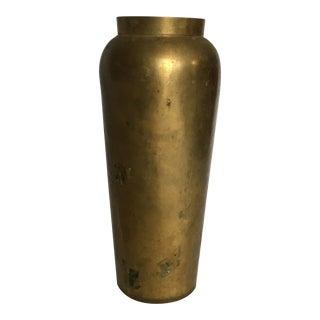 Mid Century Style Brass Vase For Sale