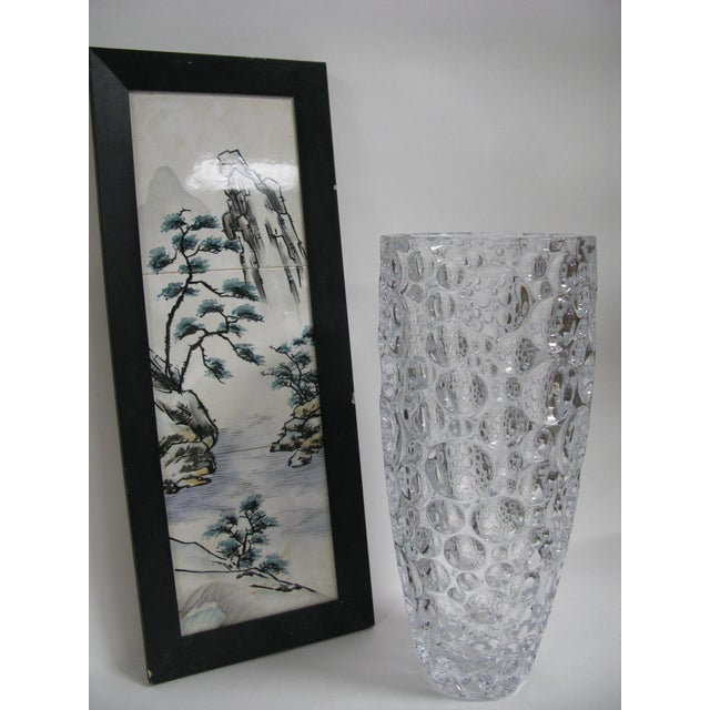 1990s Czech Vase Bubble Thumbprint Bohemia Glass For Sale In Charleston - Image 6 of 10