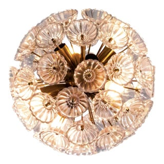 "East German Glass ""Dandelion"" Chandelier (2 Available) For Sale"