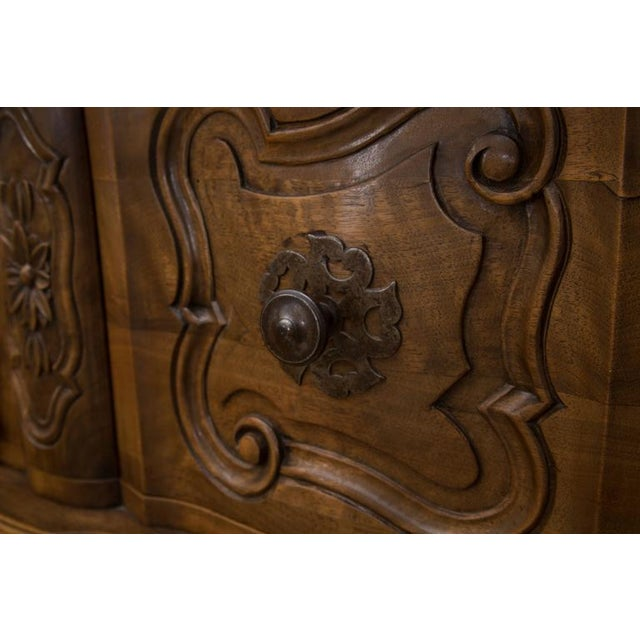 20th Century, French, Louis XV Style Walnut Buffet with Super Structure For Sale - Image 9 of 10