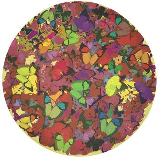 "Nicolette Mayer Mariposa Pop 16"" Round Pebble Placemats, Set of 4 For Sale"