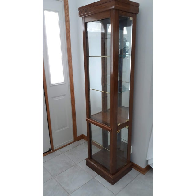 2000 - 2009 Rectangular Wood & Glass Curio Cabinet For Sale - Image 5 of 9