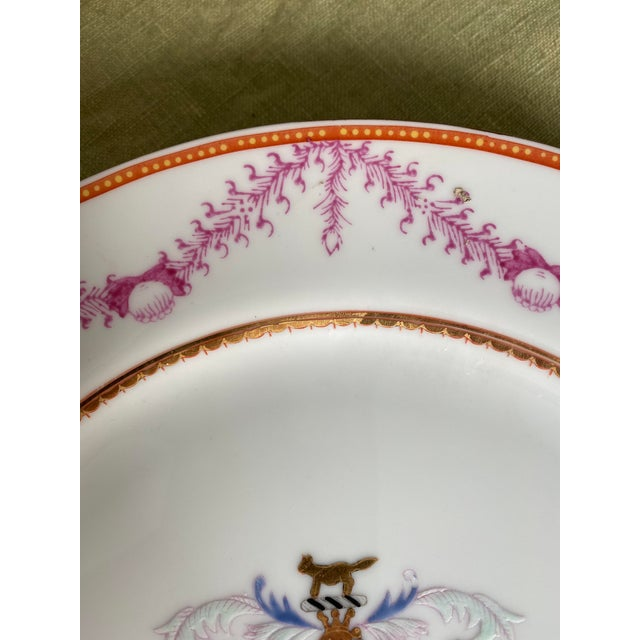 Antique Corsican French-Italian Coat of Arms Sola Virtue Invest Plates - a Pair For Sale In New York - Image 6 of 10