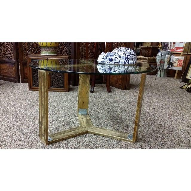 Custom Pallet Wood Side Table - Image 5 of 9