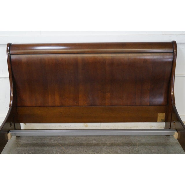 Grange Cherry Wood Queen Size Sleigh Bed - Image 7 of 10