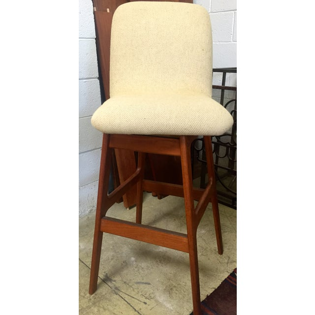 Danish Mid-Century Swivel Bar Stool - Image 2 of 5