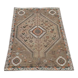 Antique Southwest Persian Ghashgaie Rug - 5'1''x 7'7'' For Sale