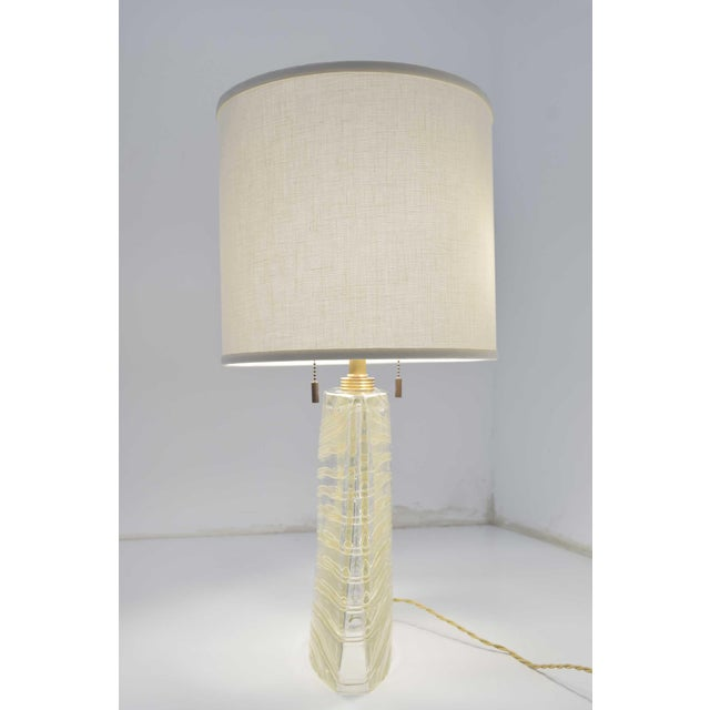 Vela Venetian Glass Lamp by Donghia For Sale - Image 10 of 13