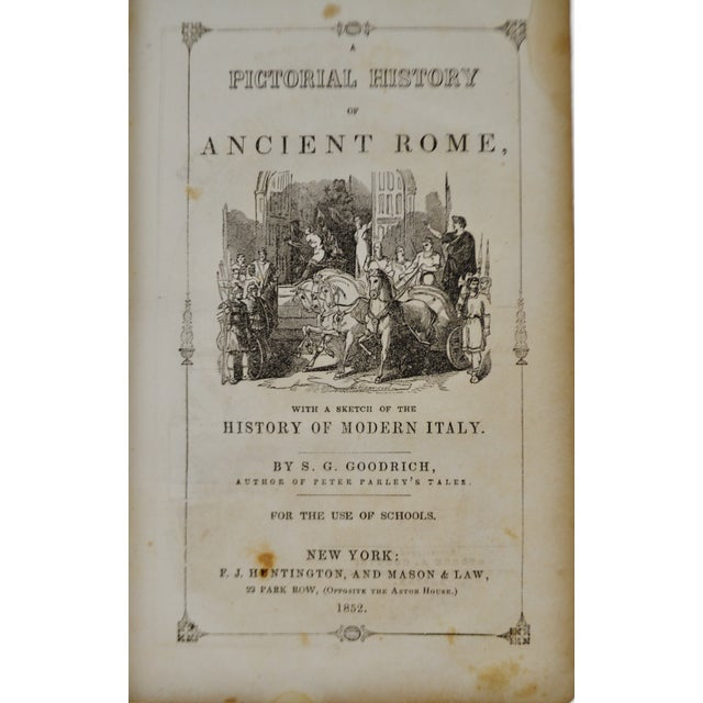 Antique 1852 Pictorial History of Ancient Rome Leather Bound Book - Image 4 of 11