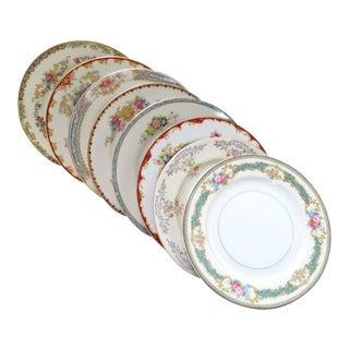 Vintage Mismatched Fine China Dessert Plates - Set of 8