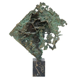 Brutalist Bronze Sculpture by William Bowie