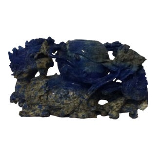 Chinese Lapis Lazuli Dragon Bowl Censer For Sale