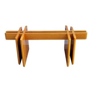 1970s Mid Century Modern Danish Fishbone Style Coffee Table Base For Sale
