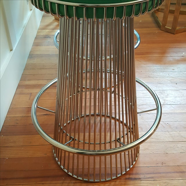 Mid Century Platner Style Bar Stools & Table Set - Image 6 of 11
