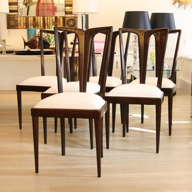 Italian Osvaldo Borsani Dining Chairs - Set of 6 For Sale - Image 3 of 6