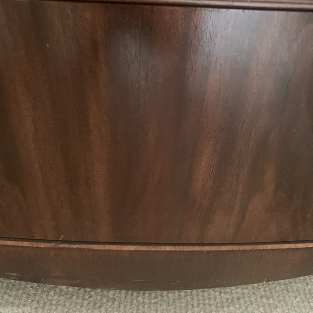 Antique Mahogany China Display Cabinet For Sale - Image 9 of 13