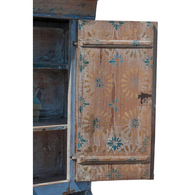 Blue Painted Swedish Secretaire For Sale In Washington DC - Image 6 of 9