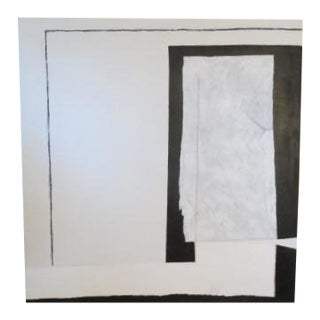 Modern Minimalist Black and White Painting Kelly Caldwell For Sale