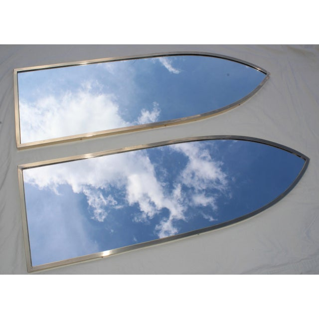 Mid-Century Modern Mid-Century Modern Italian Brass Arched Frame Mirrors For Sale - Image 3 of 10
