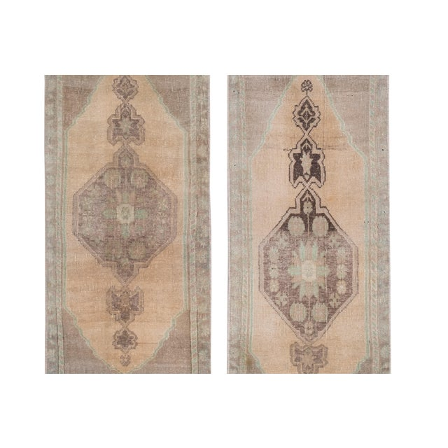 """Front of Bath Sink Rug Hand Made Kitchen Mat Faded Mini Rugs 19"""" x 48"""" / 49 x 121 cm 19"""" x 42"""" / 49 x 107 cm Handwoven..."""