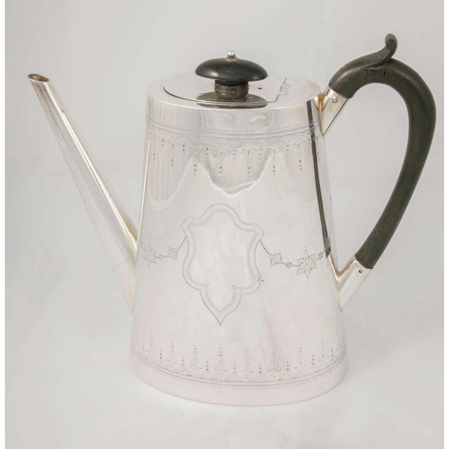Silver Silver Plate Coffee Pot For Sale - Image 8 of 9