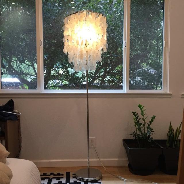 West Elm Standing Capiz Lamp - Image 2 of 5