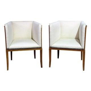 Pair Arkitektura Mid-Century Modern Club Chairs For Sale