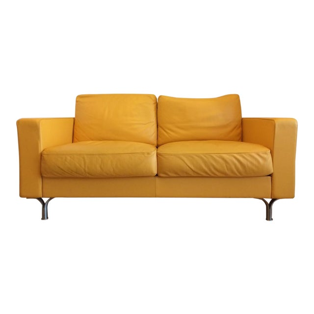 Poltrona Frau Prime Quality Yellow Sofa For Sale