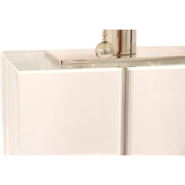 Pierre Cardin-Style Chrome & Lucite Table Lamp - Image 3 of 7