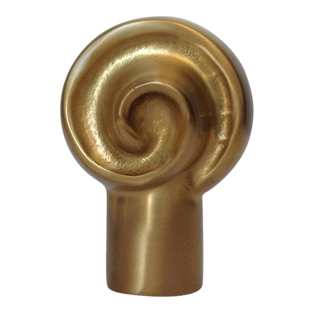 German Custom Brushed Bronze Infinity Swirl Finial For Sale