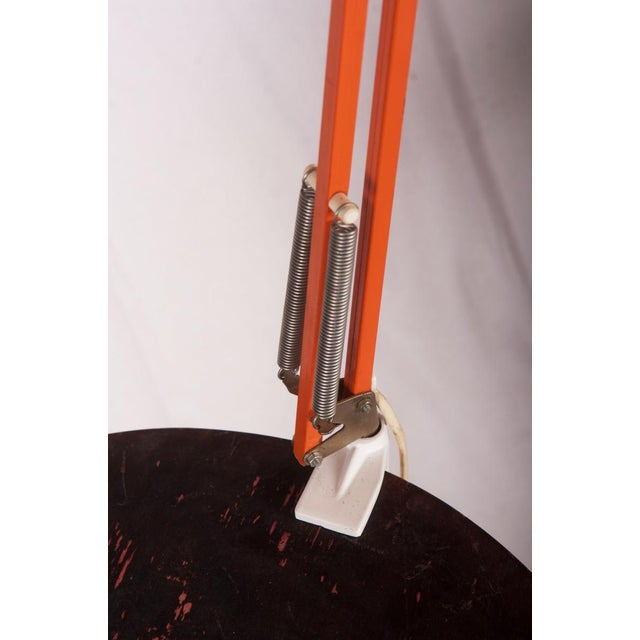 1970s Orange Table Lamp by Luxo, 1970s For Sale - Image 5 of 6