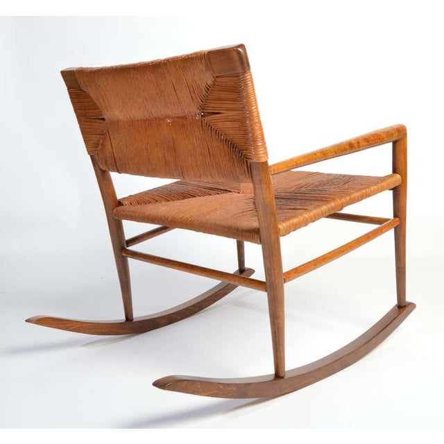 Wood Custom Mel Smilow Rocker-One of a Handful Produced by Smilow Designs, 1956 For Sale - Image 7 of 9