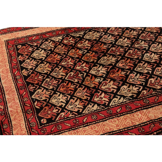 """Red Vintage North West Persian Rug, 4'5"""" X 10'0"""" For Sale - Image 8 of 9"""