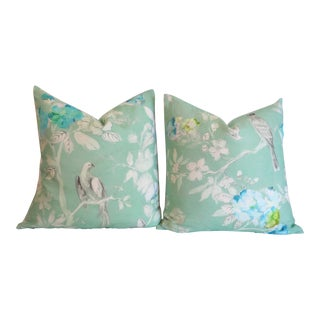 Osborne & Little Mint Birds Pillow Covers 22x22 - a Pair For Sale