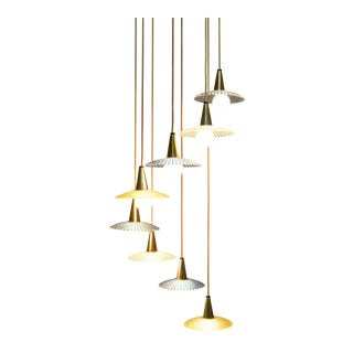Mid Century Tiered Chandelier by Moe Lighting