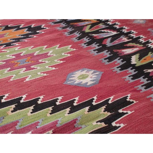Textile Balkan Kilim For Sale - Image 7 of 8