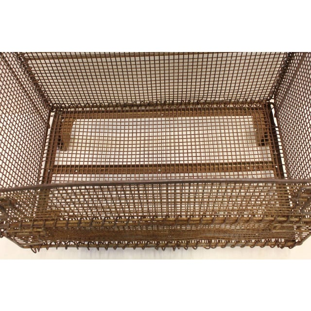 Industrial 1930's Vintage American Industrial Collapsible Wire Baskets For Sale - Image 3 of 5