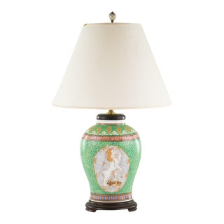 Vintage used french provincial table lamps chairish french provincial green porcelain table lamp aloadofball Images