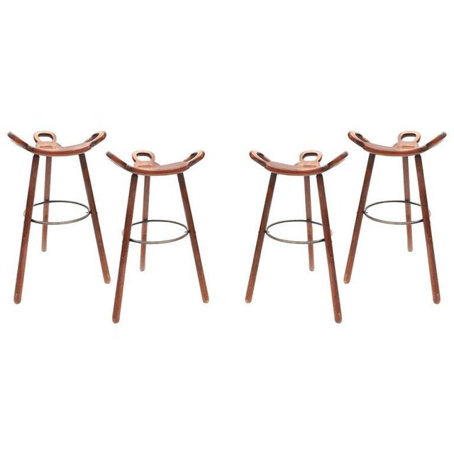 Beech Set of Four Carl Malmsten Bar Stools For Sale - Image 7 of 7