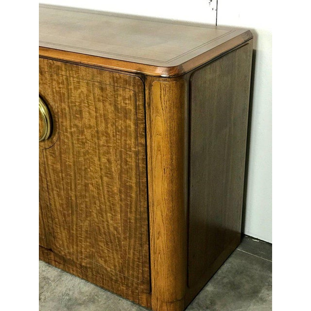 Midcentury Mahogany and Brass Credenza by Micheal Taylor for Baker For Sale - Image 10 of 13