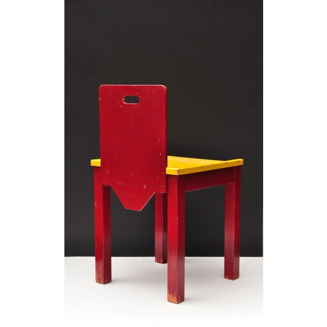 Mid-Century Modern Child Chair Construction, Switzerland 1950s For Sale - Image 3 of 9