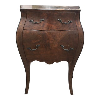 Bombe Walnut Side Table For Sale