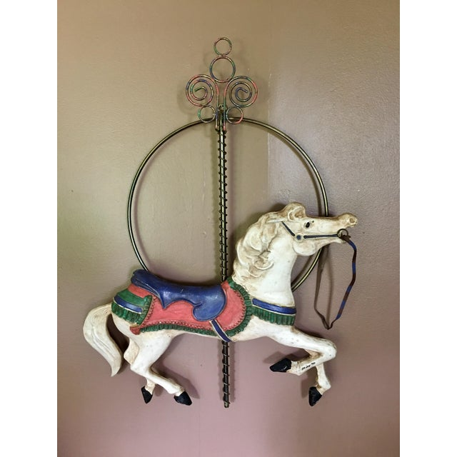 Curtis Jere Carousel Horse Wall Hanging - Image 2 of 7