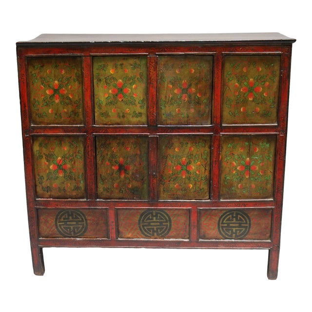 1920s Tibetan Chest For Sale