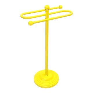 Electric Yellow Bathroom Hand Towel Stand Holder For Sale