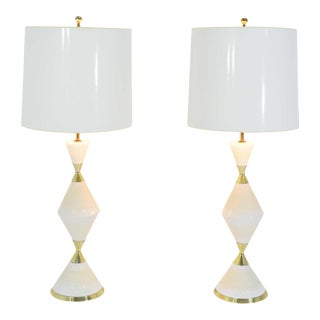 Porcelain Table Lamps by Gerald Thurston for Lightolier, 1950s For Sale