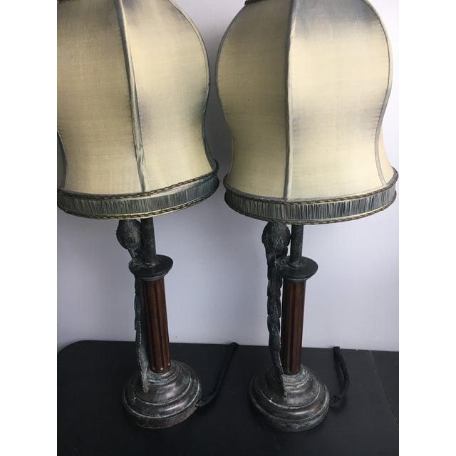 Maitland-Smith Peacock Table Lamps - a Pair - Image 7 of 7