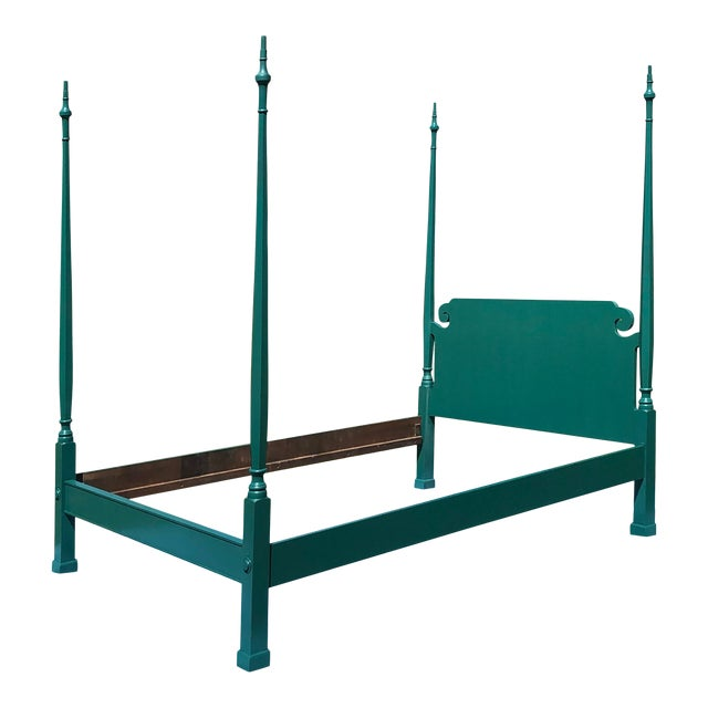 Mid 20th Century Full Pencil Post Colonial Bedframe For Sale